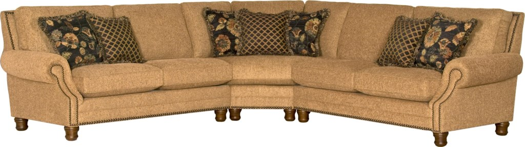 Mayo 5790 Traditional 3 Piece Sectional Sofa Olinde s Furniture
