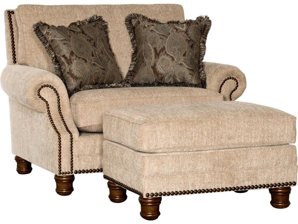 5790 traditional chair and ottoman set by mayo