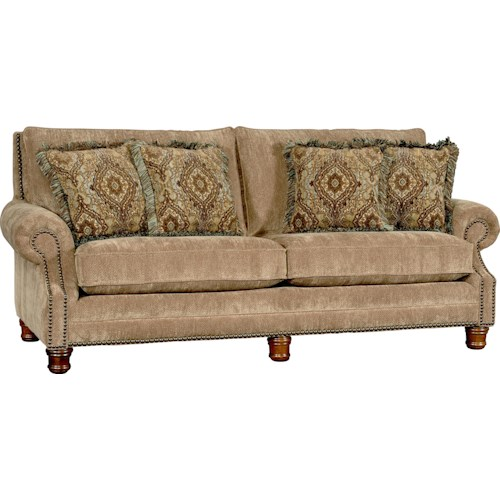 Mayo 5790 Traditional Sofa With Rolled Arms And Nailhead Trim Story Lee Furniture Sofas