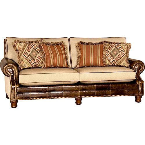Mayo 580 Traditional Sofa with Turned Wood Feet