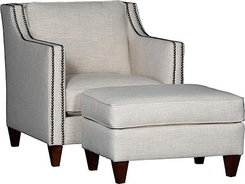 Mayo 6170 Contemporary Chair & Ottoman Set