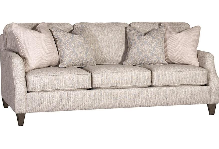 Sofa With Four Throw Pillows