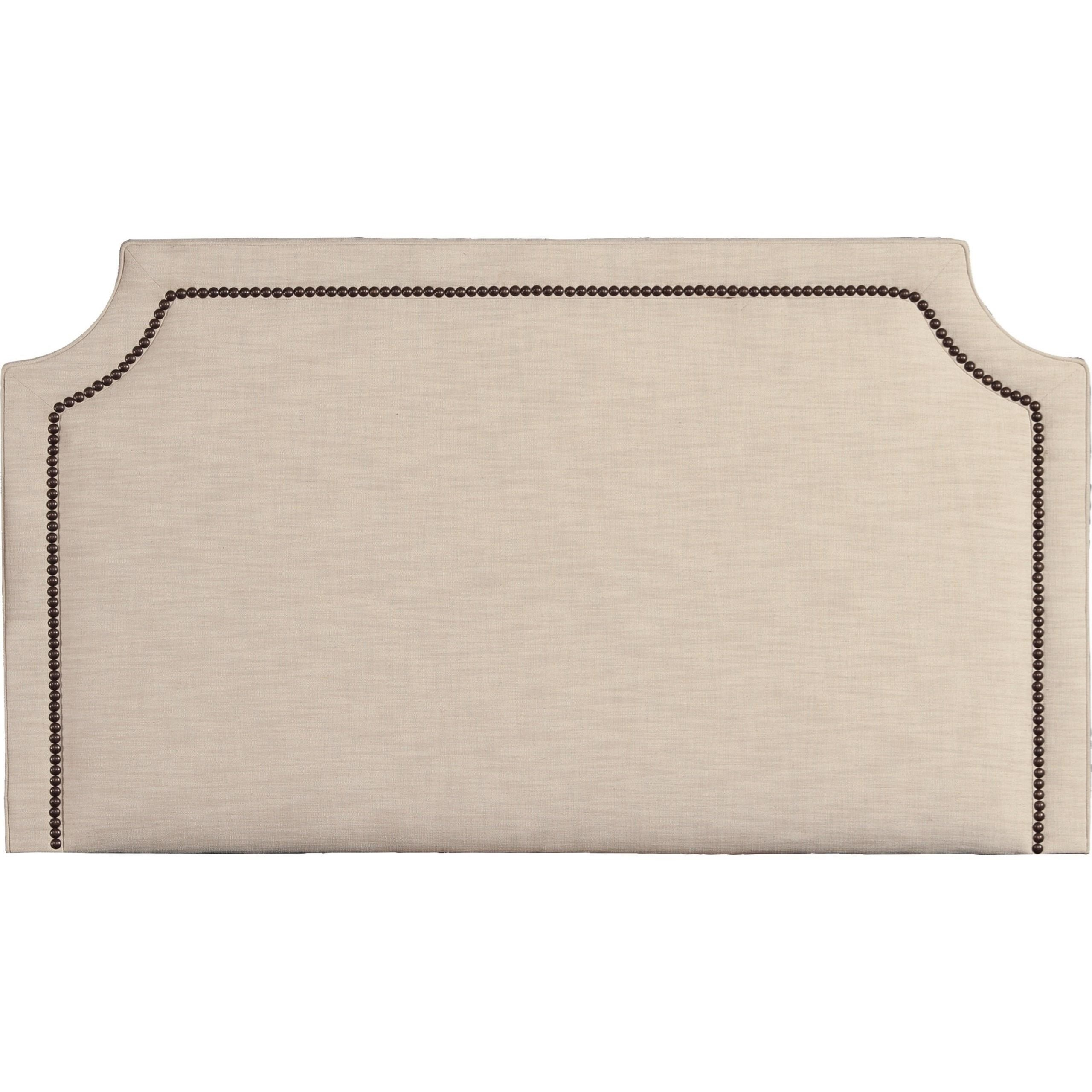 Queen Upholstered Headboard with Nail Head Trim