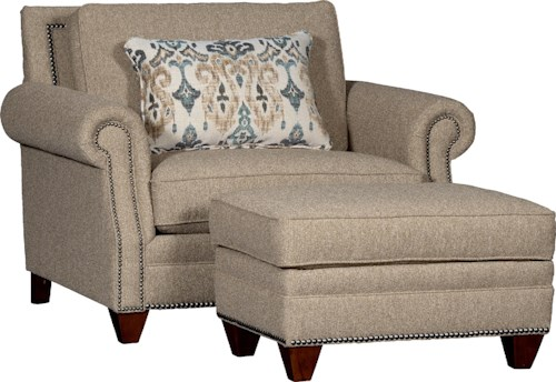 Mayo 7240 Rolled Arm Chair & Ottoman Set