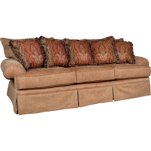 Mayo 1462 Casual Stationary Sofa with Skirt