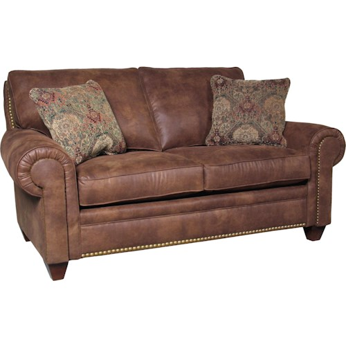 Mayo 2840 Upholstered Loveseat with Tapered Legs