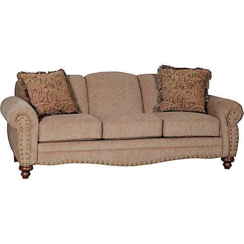 Mayo 4335 Traditional Stationary Sofa with Spool Legs