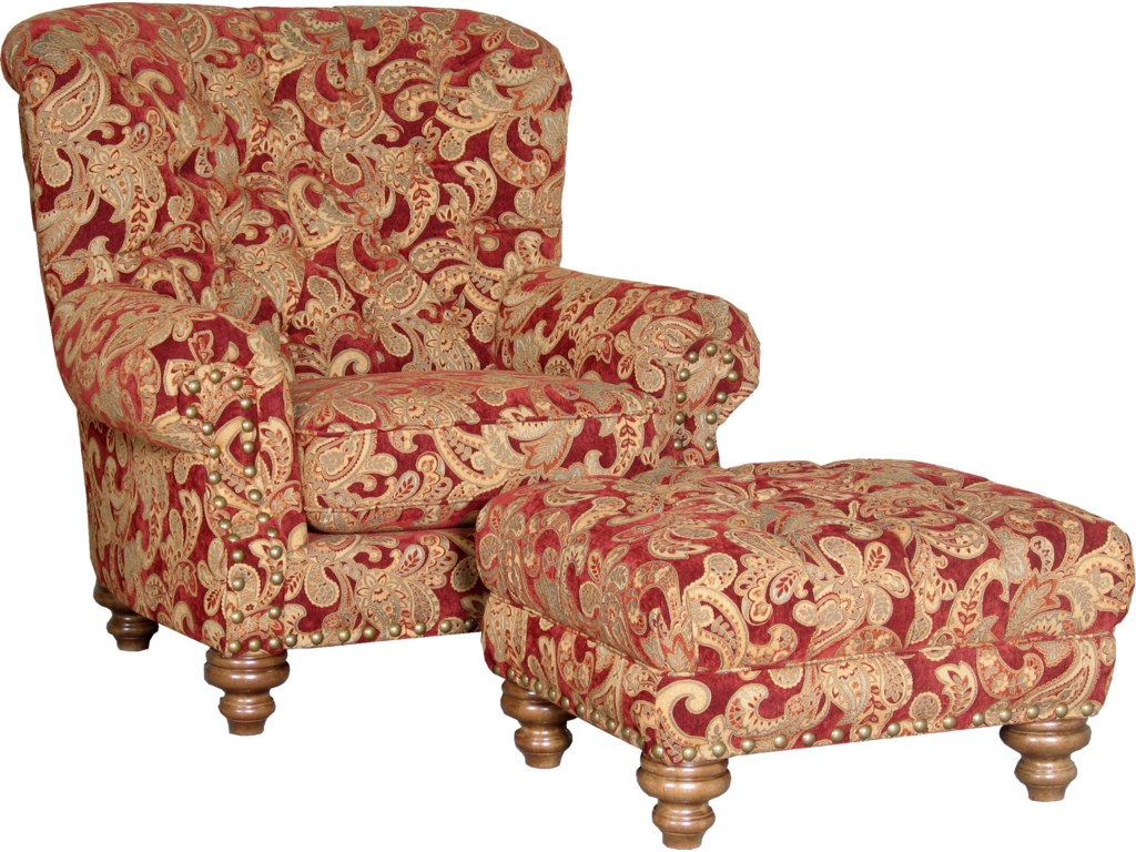 Shown with Matching Ottoman in Alternate Fabric