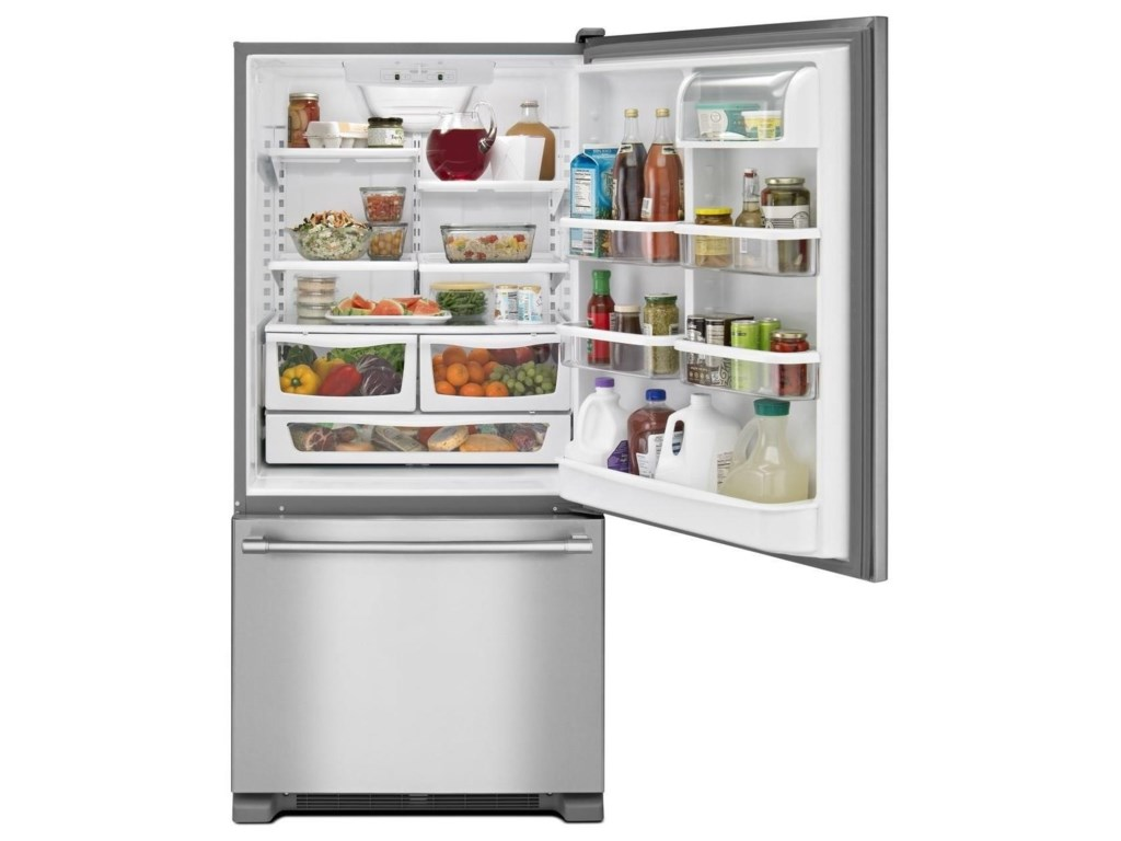 Maytag Bottom Freezer Refrigerators - Maytag33-Inch 22 Cu. Ft. Bottom Mount Refrigerator