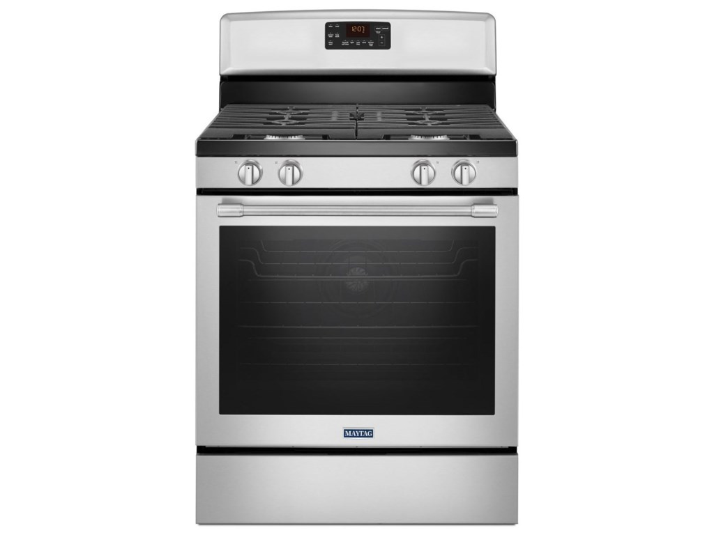 Maytag 30-inch Wide Gas Range With Fan Convection And Max Capacity ...