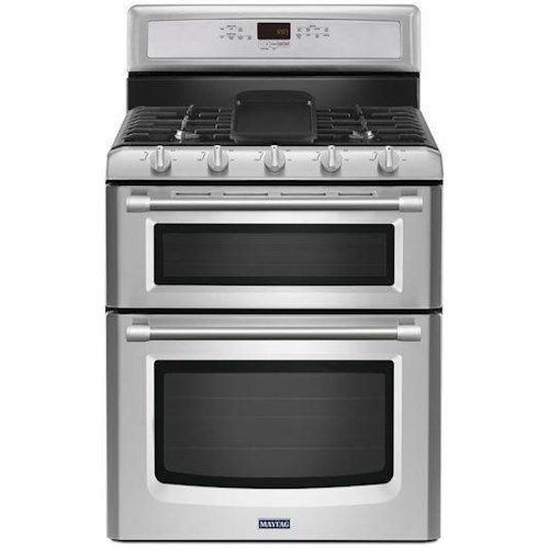 Maytag 60 Total Cu Ft Gemini Double Oven Gas Stove With Evenair