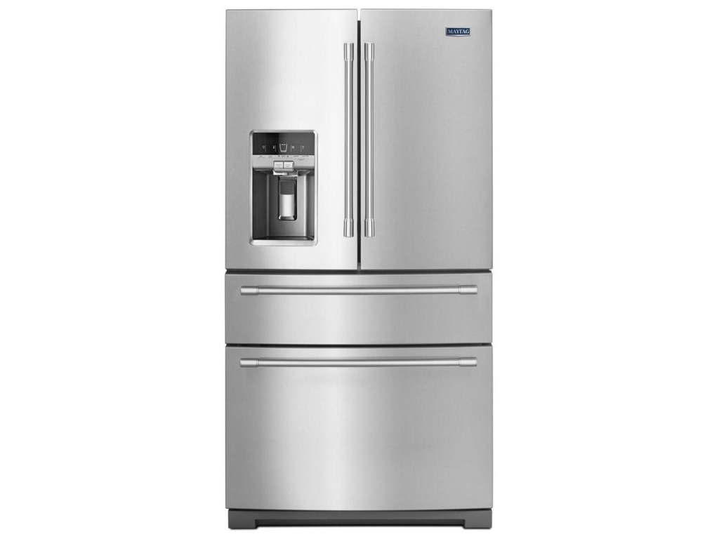 Maytag French Door Refrigerators 36 Inch Wide 4 Refrigerator With Steel Shelves 26 Cu Ft By At Furniture And