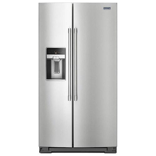 Maytag Side-By-Side Refrigerators- Maytag 36- Inch Wide Side-by-Side Refrigerator with External Ice and Water- 26 Cu. Ft.