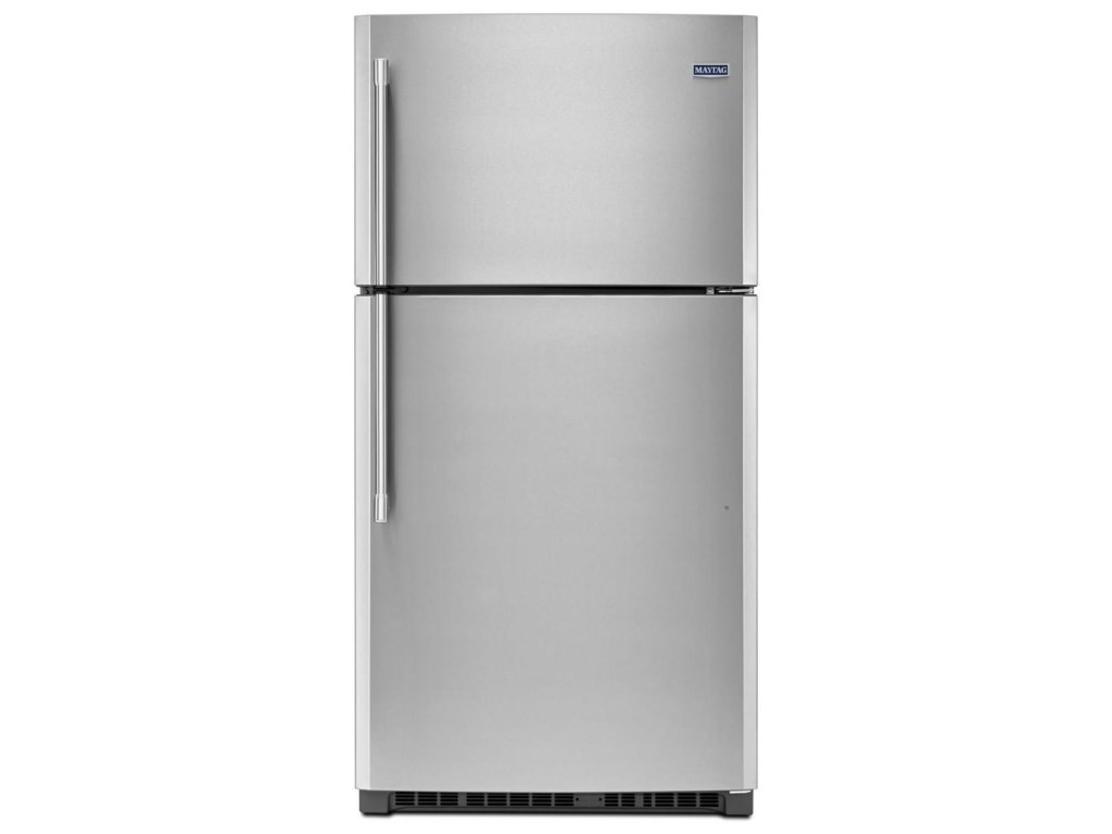 Top Freezer Refrigerators 33 Inch Wide Refrigerator With Evenair Cooling Tower 21 Cu Ft By Maytag At Furniture And Liancemart