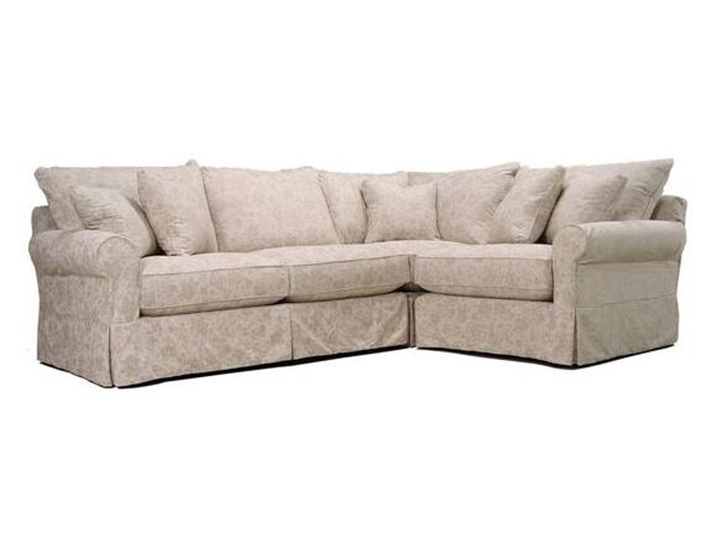 McCreary Modern 0281Stationary Slipcover Sectional