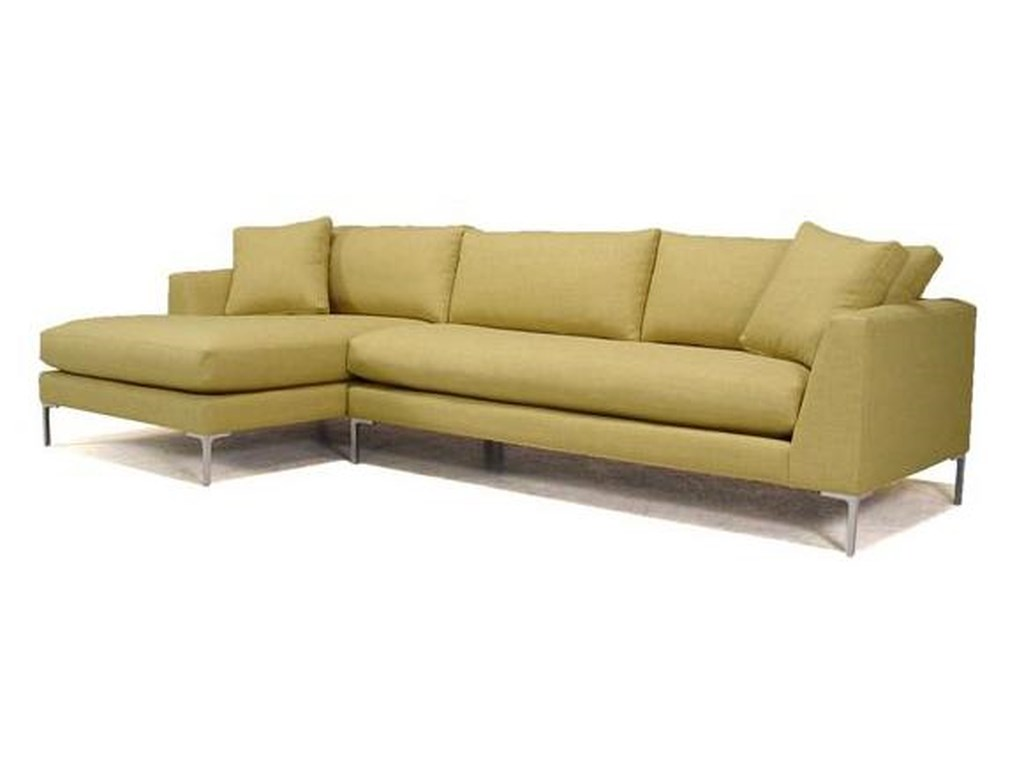 McCreary Modern 0351Sectional Sofa with Metal Legs