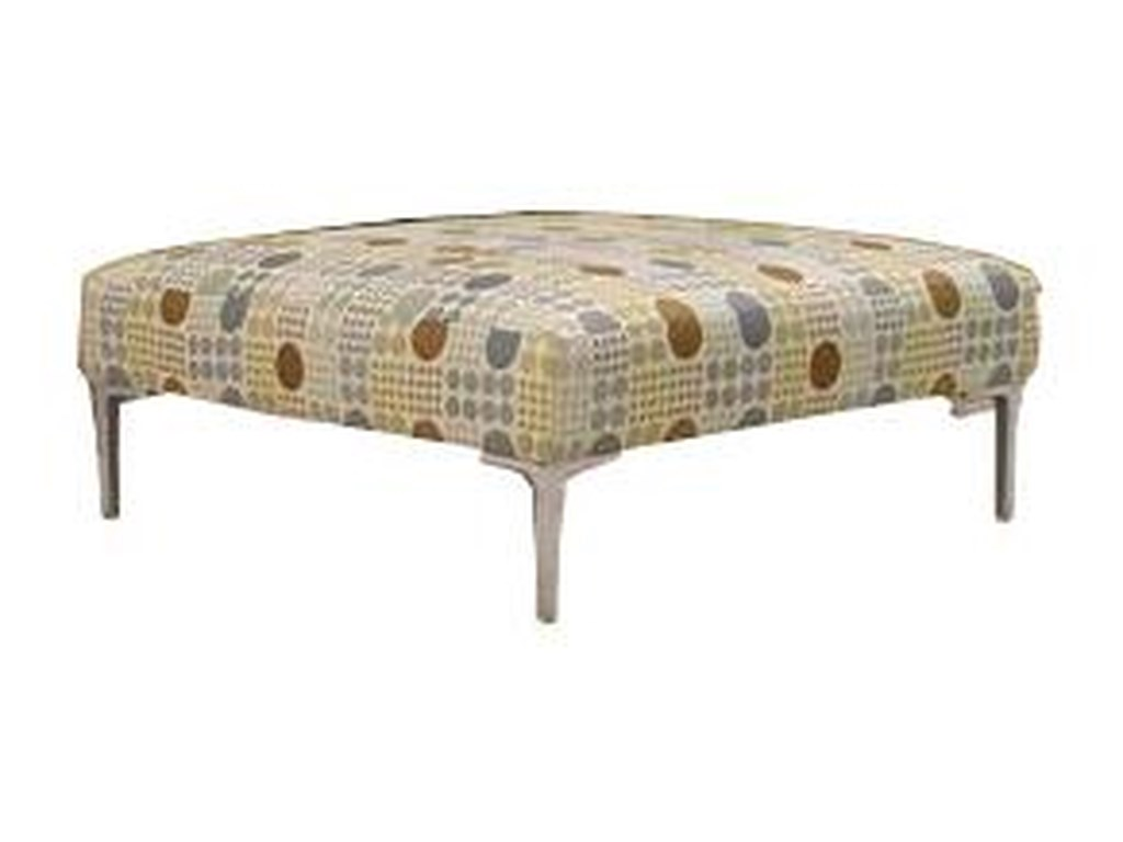 McCreary Modern 0351Ottoman with Metal Legs