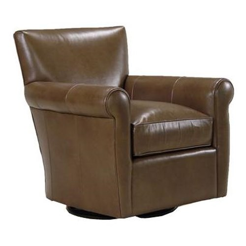 BeModern Gentry Contemporary Swivel Glider with Rolled Arms
