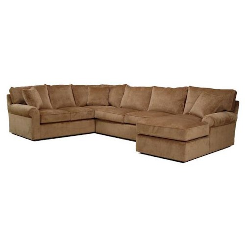 BeModern Harris Sectional Sofa with Right-Arm-Facing Chaise
