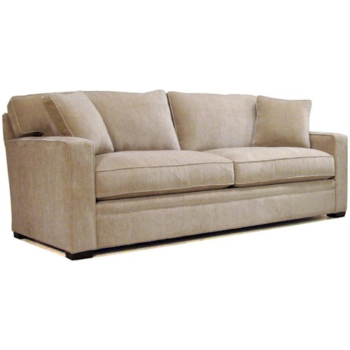 BeModern Porter Contemporary Stationary Sofa with Track Arms