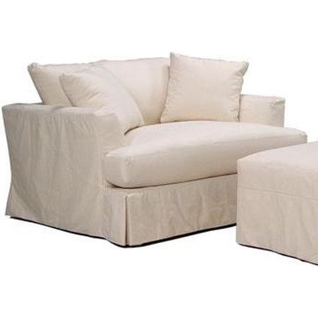 Slipcover Chair and a Half