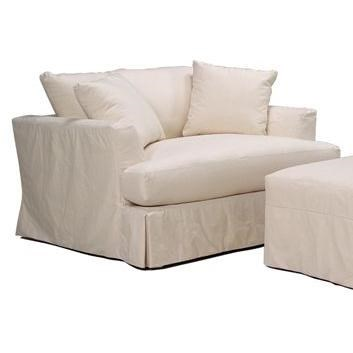 bemodern cloud comfortable slipcover chair and a half with