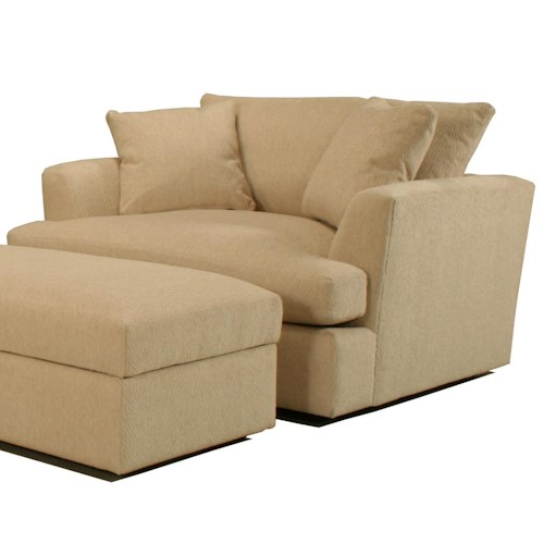 BeModern Cirrus Casual Contemporary Chair and a Half