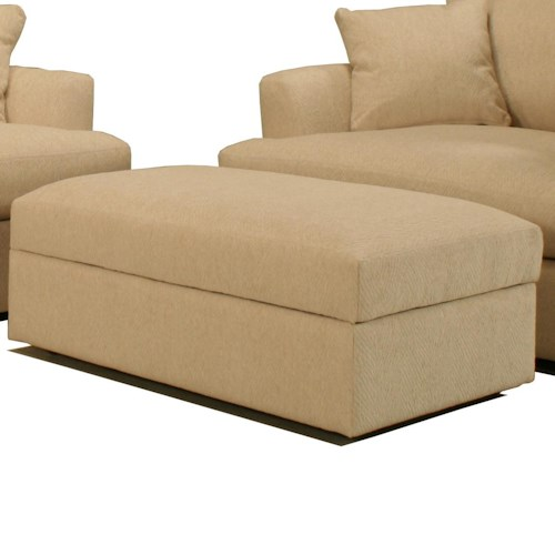 BeModern Cirrus Large Contemporary Rectangular Storage Ottoman