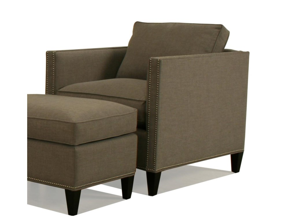 McCreary Modern 1059Upholstered Chair and Ottoman