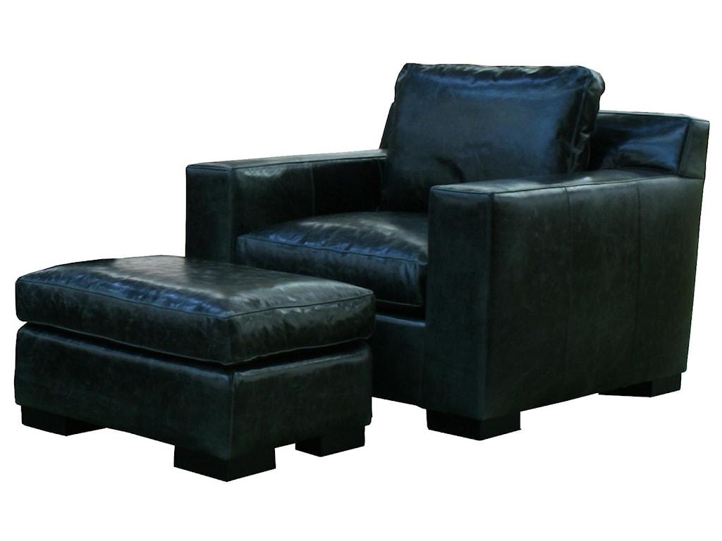 McCreary Modern 1095Modern Chair and Ottoman Set