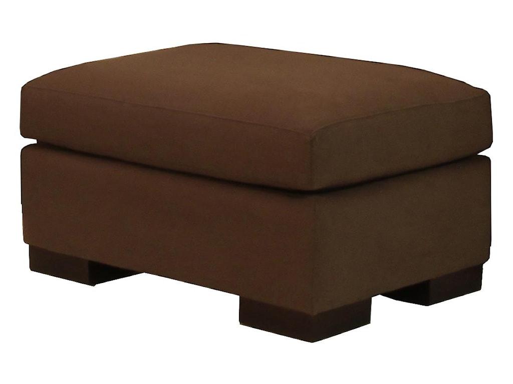 McCreary Modern 1095Plush Upholstered Ottoman
