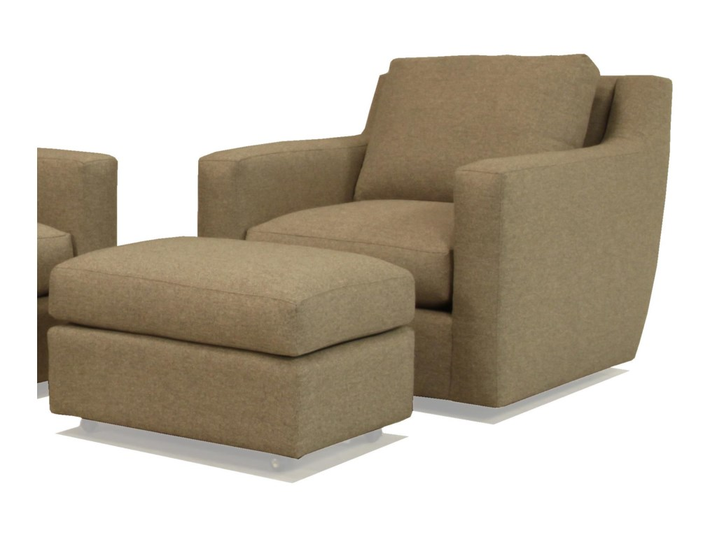 McCreary Modern 1191Ottoman with Casters