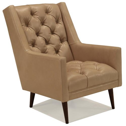 BeModern Benson Upholstered Chair with Tufted Back and Seat