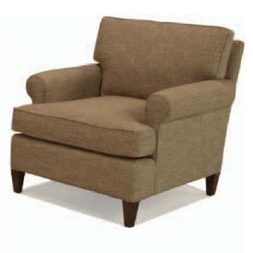 BeModern Aiden Upholstered Chair with Rolled Arms