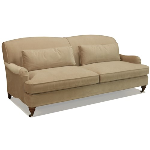 BeModern Brighton Upholstered Sofa with Attached Back and Castered Legs