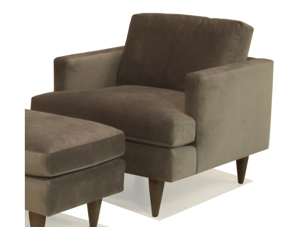 BeModern SterlingUpholstered Chair with Track Arm