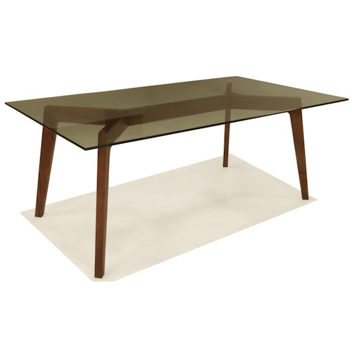 BeModern 15DT Dining Table with Glass Top