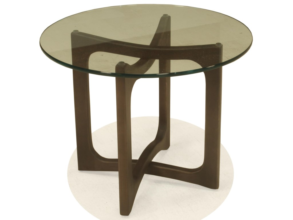 McCreary Modern 15ETRound End Table with Glass Top