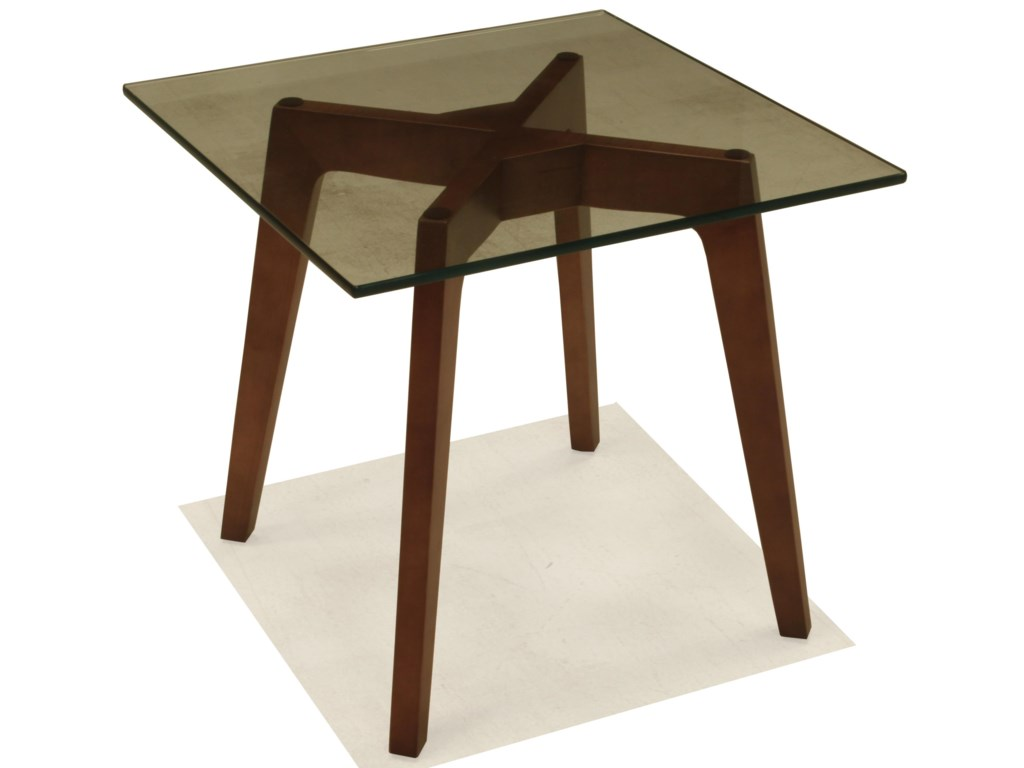 BeModern 15ETSquare End Table with Glass Top