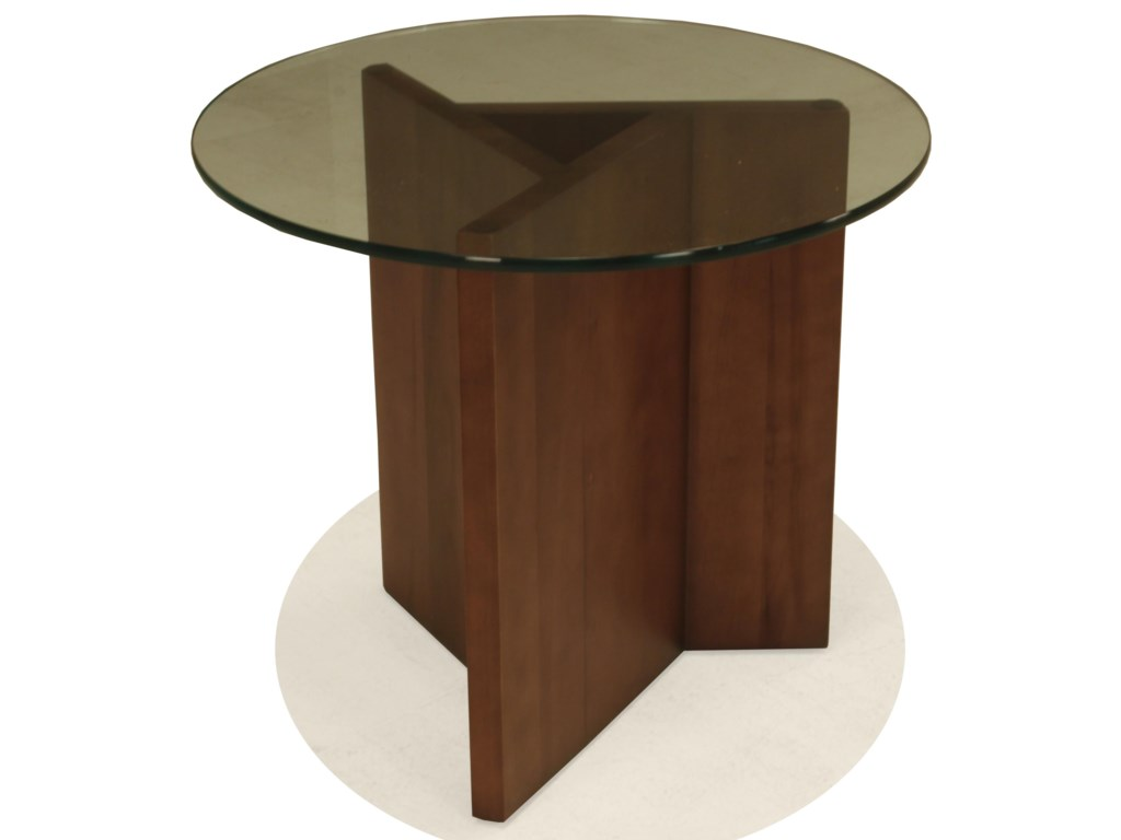 BeModern 15ETRound End Table with Glass Top