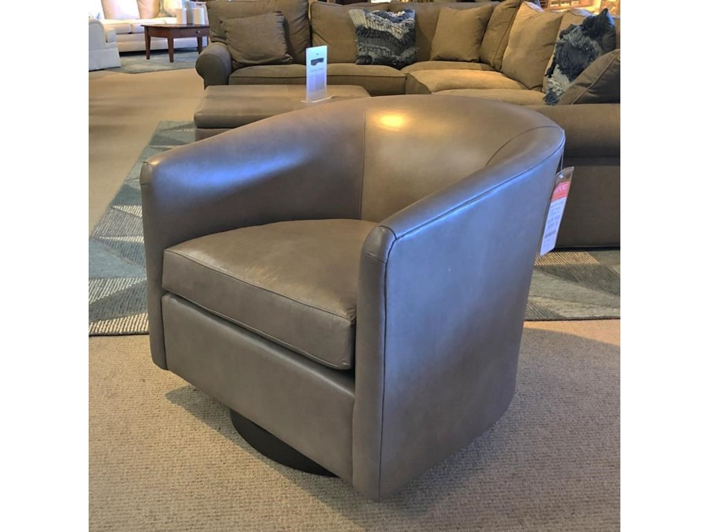 BeModern 1618Leather Swivel Chair