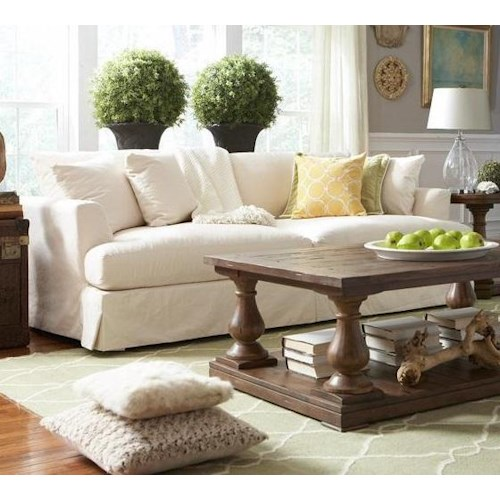 BeModern Cloud Grand, Extra Long Slipcover Sofa