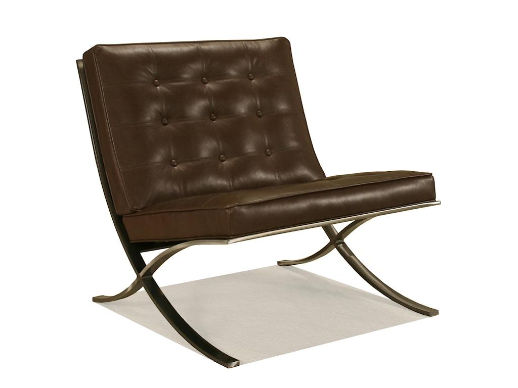 McCreary Modern 810 Leather Armless Stationary Chair