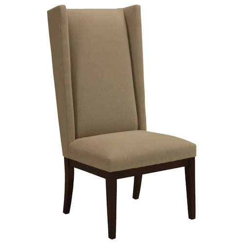 BeModern Dining Items Upholstered Dining Side Chair with Tall Wing Back