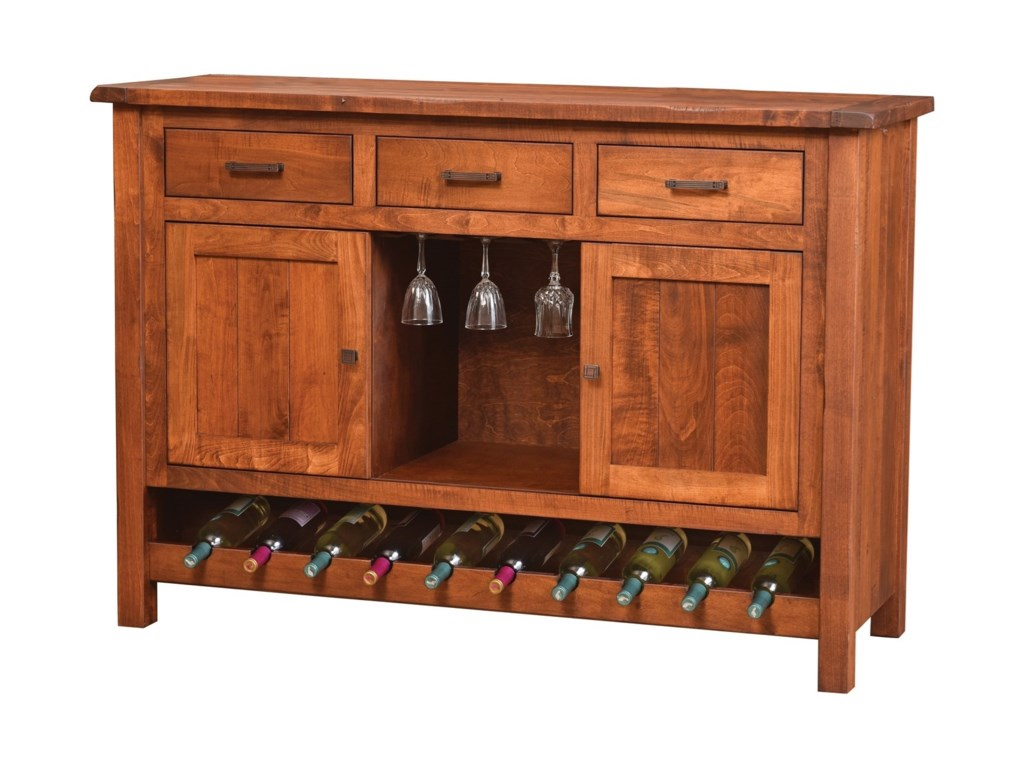 Meadow Lane Wood AdeleWine Cabinet