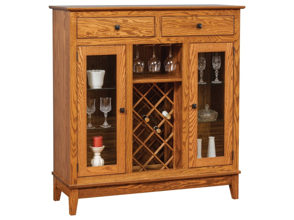 Meadow Lane Wood CanterburyWine Cabinet