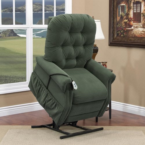 Med-Lift & Mobility 2555 Casual 2-Way Lift Recliner with Tufted Back