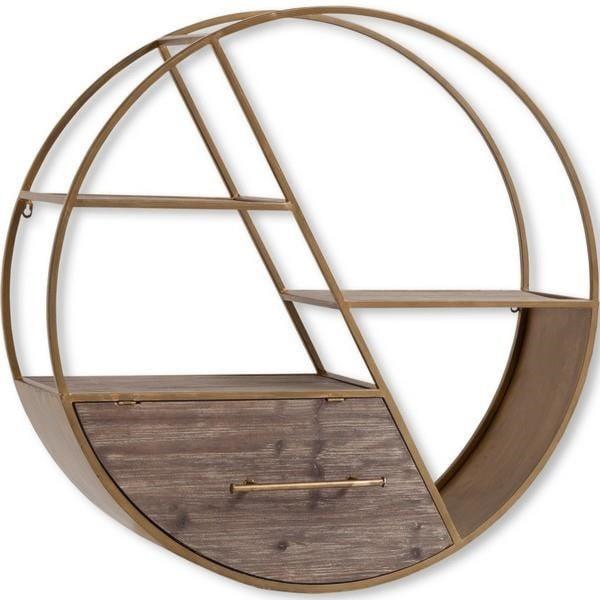 Mercana Ruby-Gordon AccentsMetal Circle Wall Shelf