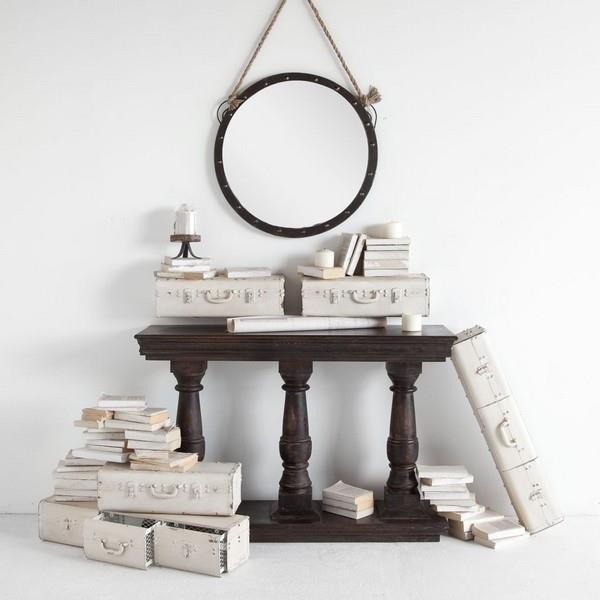Superior Mercana Ruby Gordon Accents Antiqued Metal Shelf