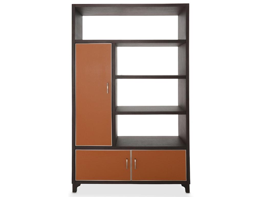 AICO - Michael Amini 21 CosmopolitanLeft Bookcase w/ Doors